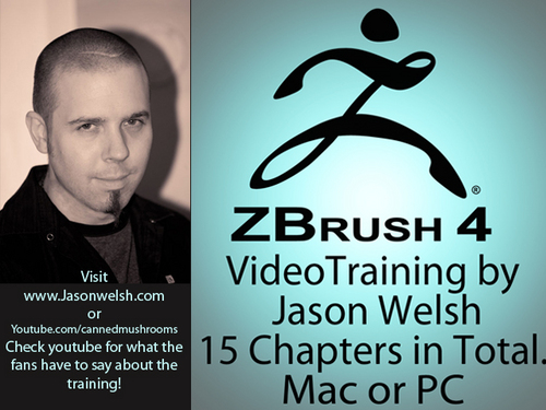 Product picture Zbrush 4 Video Training Box Set by Jason Welsh